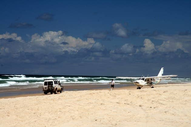Road hazards on Fraser Island - Australia
