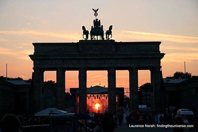 Sunset through the Brandenberg Gate - Berlin