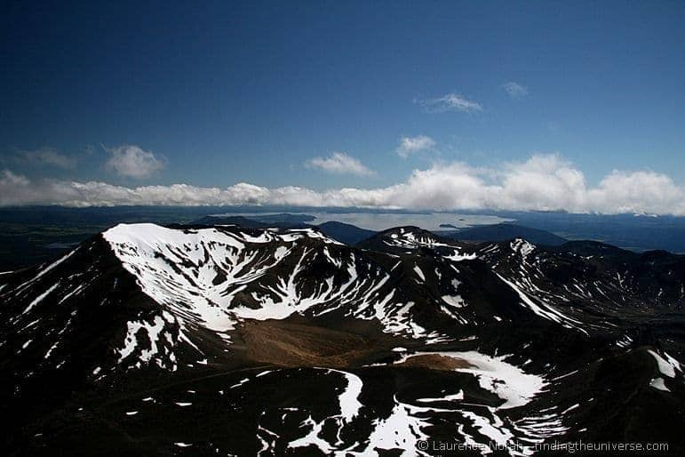 View of Mount Tongariro from Mount Ngauruhoe