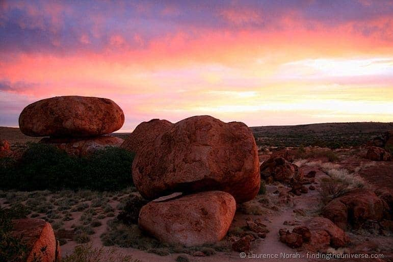 Devils Marbles at Sunset - Northern Territory