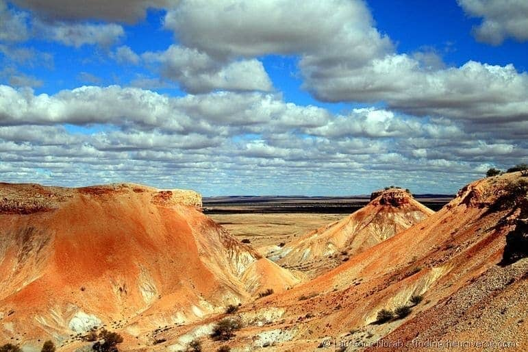 Australias Red Centre  Painted Desert - Australian outback near Coober Pedy