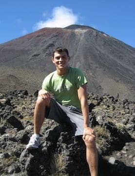 Matt Kepnes at the foot of Mount Ngauruhoe