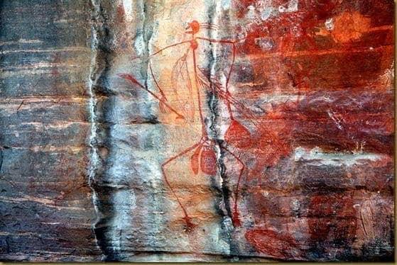 Rock art at Ubirr