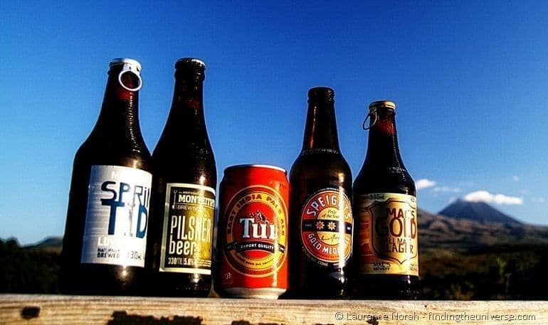 Selection of New Zealand beers