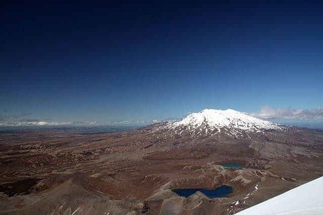 Tama Lakes from Mount Ngauruhoe