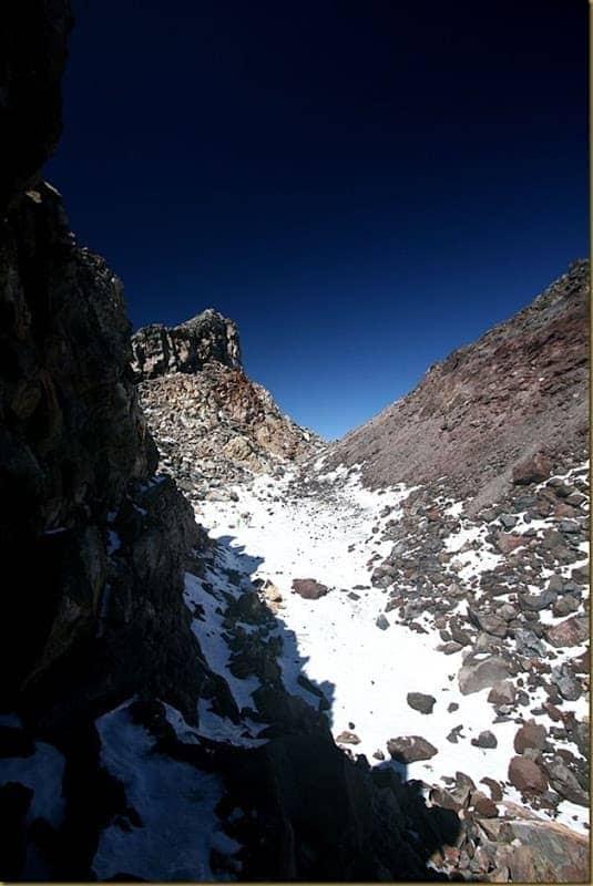 Entering the Taranaki Crater