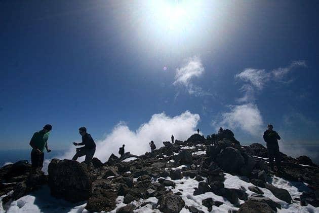 People on the summit
