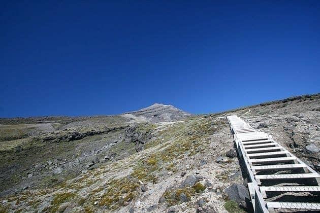 Staircase up Mount Taranaki