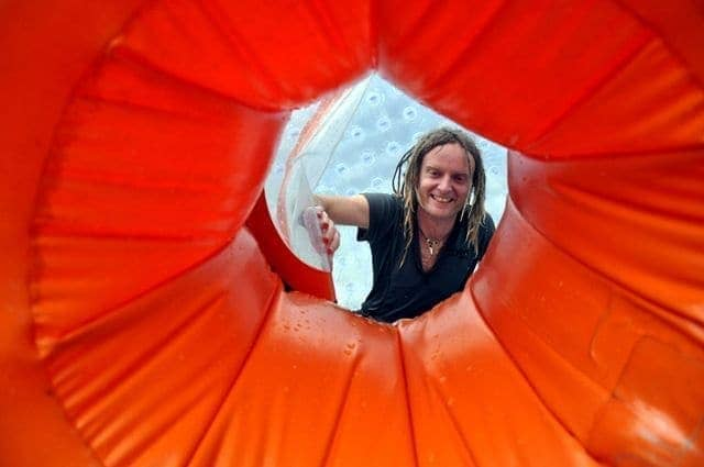 The Zorb tunnel thing