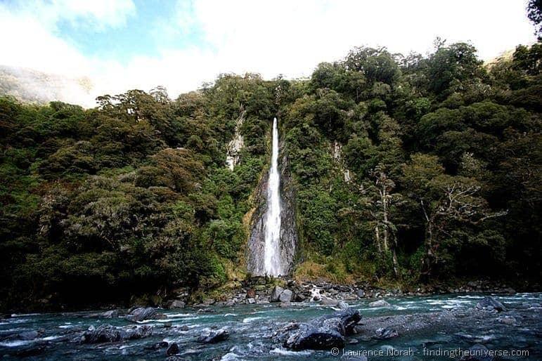 Thunder Creek Falls Waterfall New Zealand