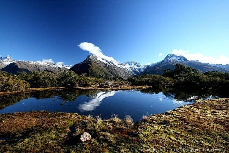 Alpine lake reflection