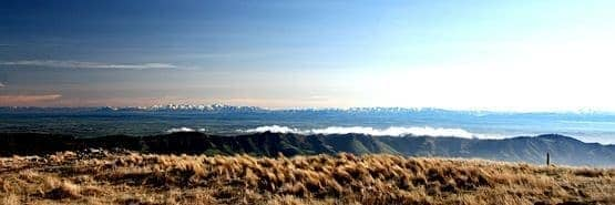 Alps mountains Canterbury plains