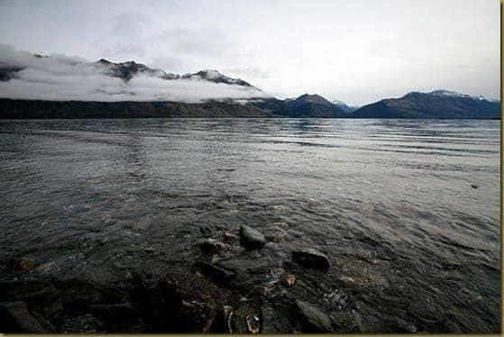 Cloud coated mountains by Lake Wakatipu 2