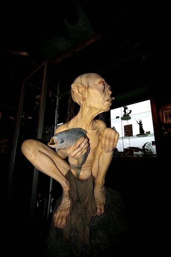 Gollum statue Weta Cave