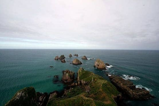Nugget Point cliffs and sea