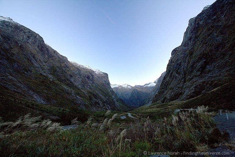 Road to milford through mountain passes