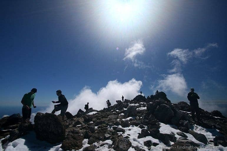 People on the summit