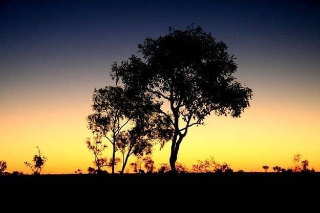 Outback sunset Australia