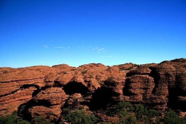 Beehive rock formation Cliff walls canyon rock formation Kings Canyon outback Australia