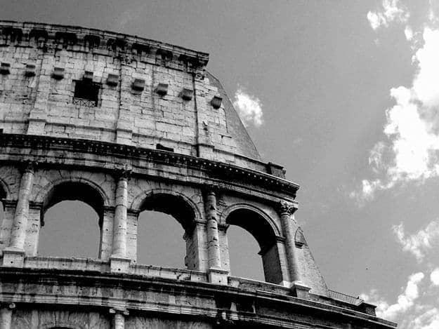 Coliseum Black and White