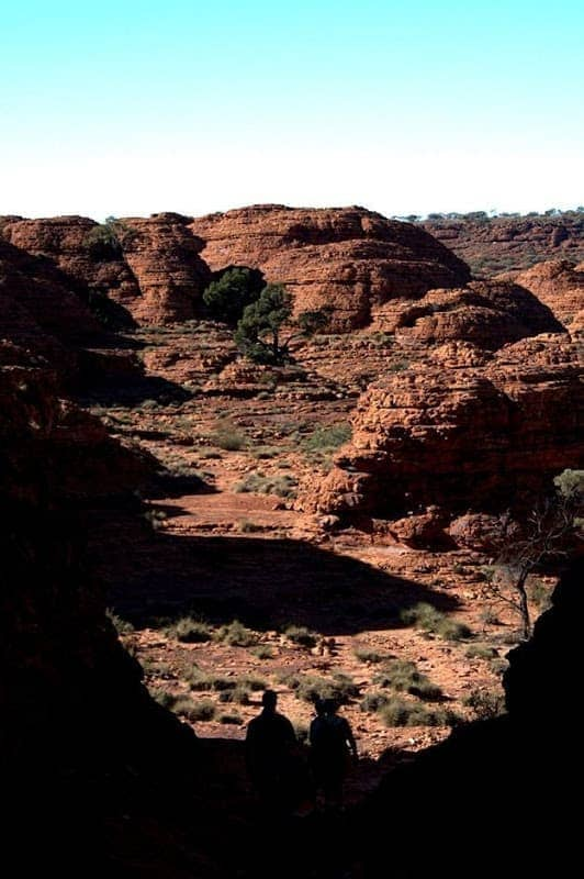 Kings Canyon valley rock formation