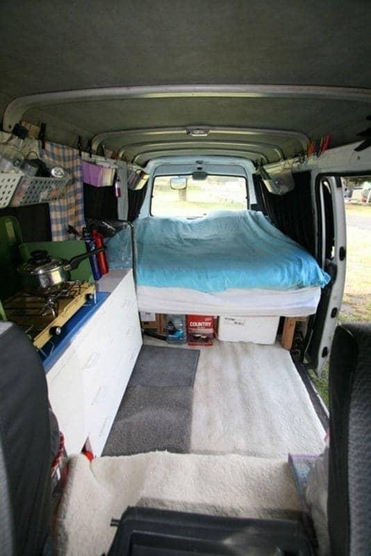 Travellers camper van interior New Zealand