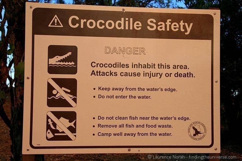 Croc warning sign