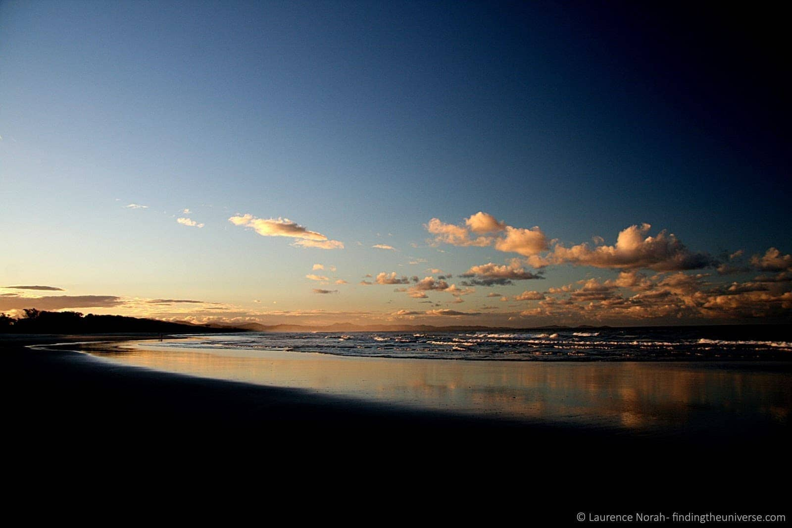 Sunset reflections - Byron Bay - Queensland - Australia