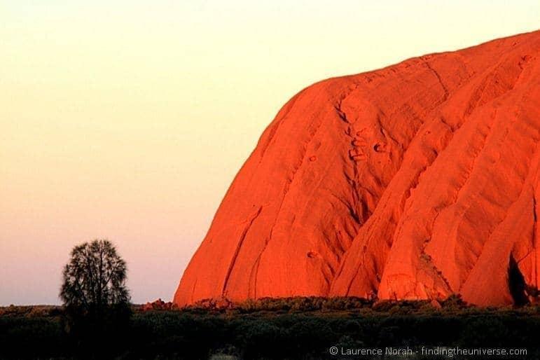 Australia six week itinerary Uluru at sunset