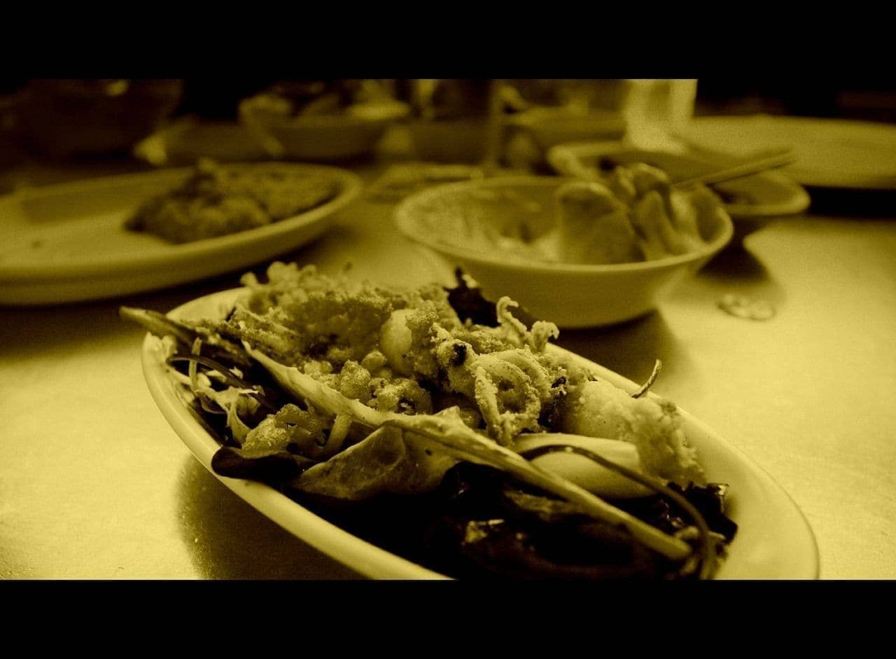 Barcelona food tapas squid