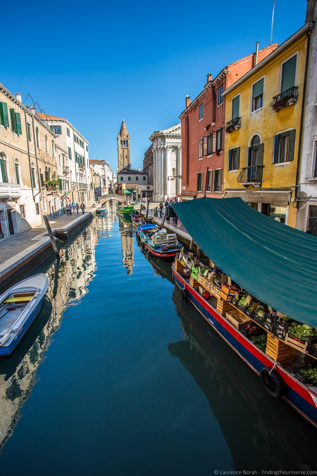 Floating market Venice