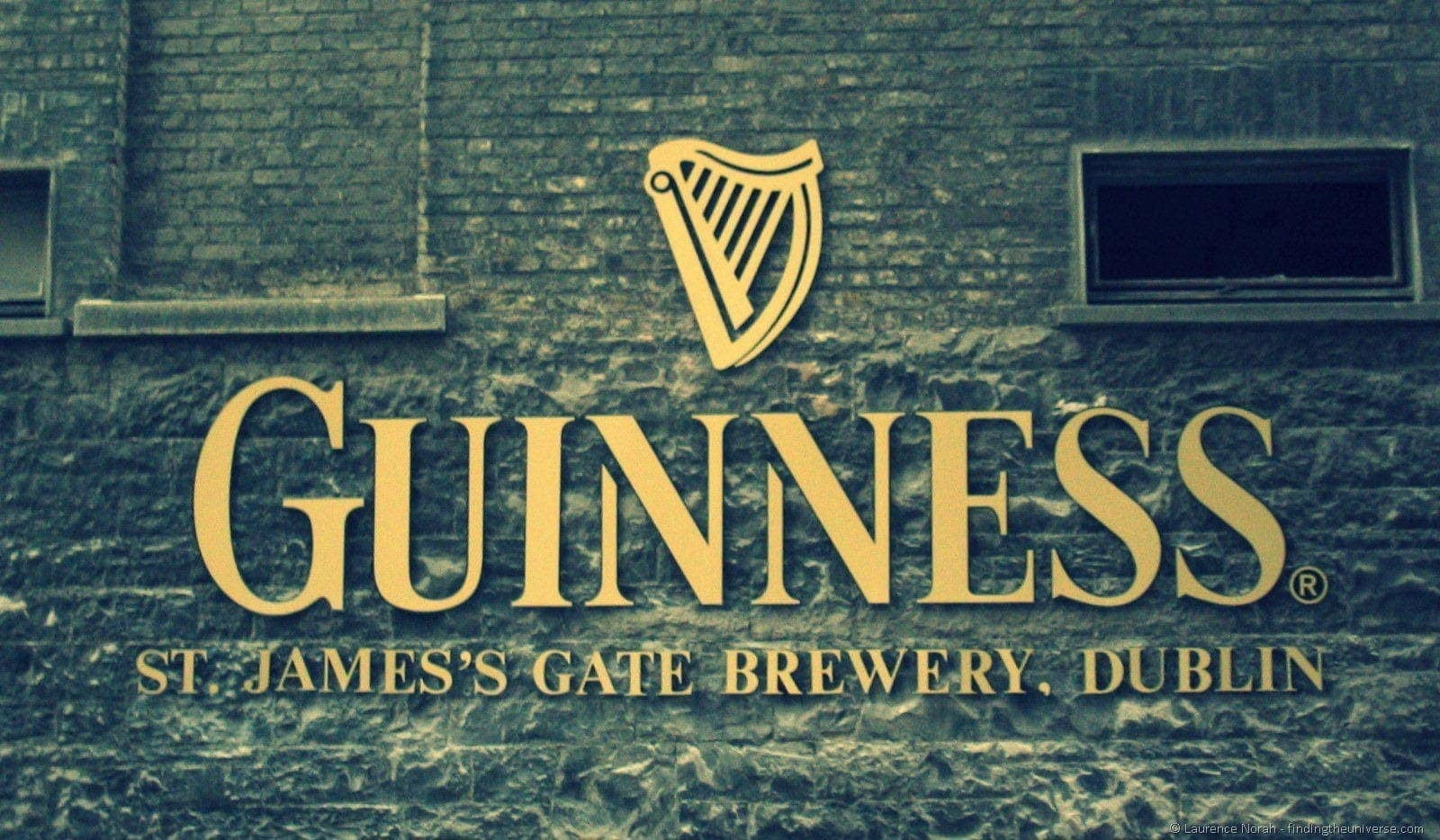 Guinness sign Dublin brewery