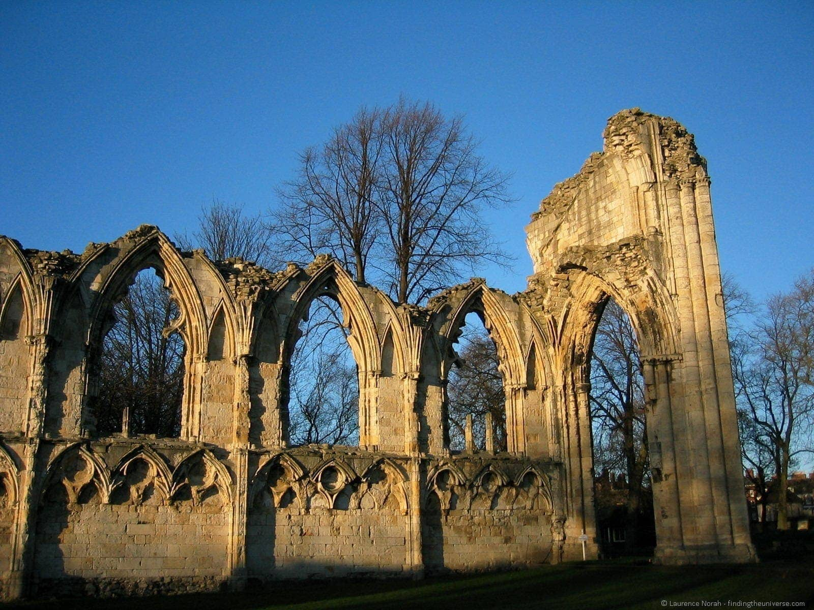 York St Marys Abbey ruin church monastery