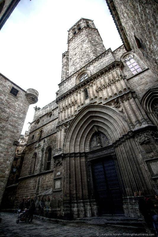 Cathedral Barcelona Gothic Quarter side entrance