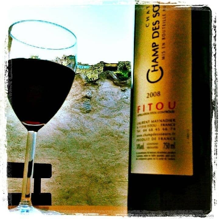 Fitou wine bottle