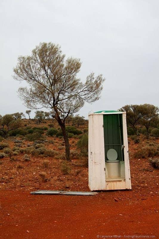 Outback toilet Australia portable