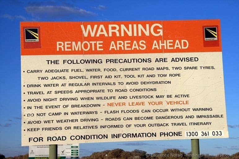 Road warning sign - South Australia