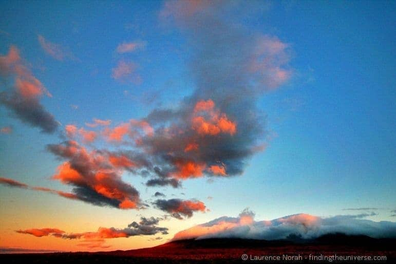 Tongariro National Park sunset new zealand