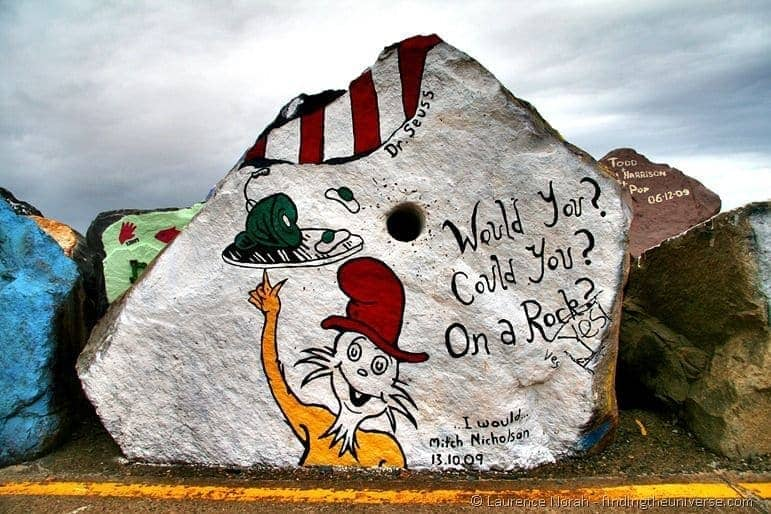 dr seuss on a rock