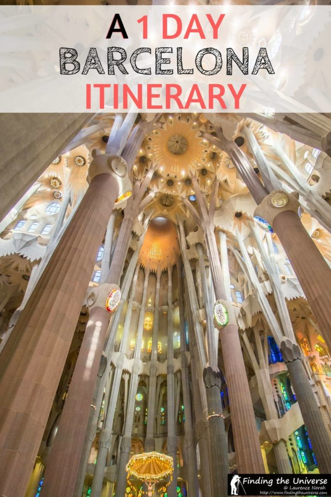 Everything you need to help you spend 1 Day in Barcelona, including visiting some of Gaudi's masterpieces - Casa Battlo and the Sagrada Familia, the Gothic Quarter, and Castell Monjuic and the Magic fountain.