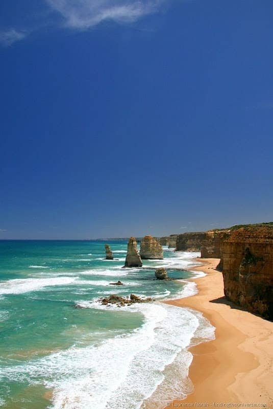 12 Apostles coastline beach Australia Great Ocean Road.png