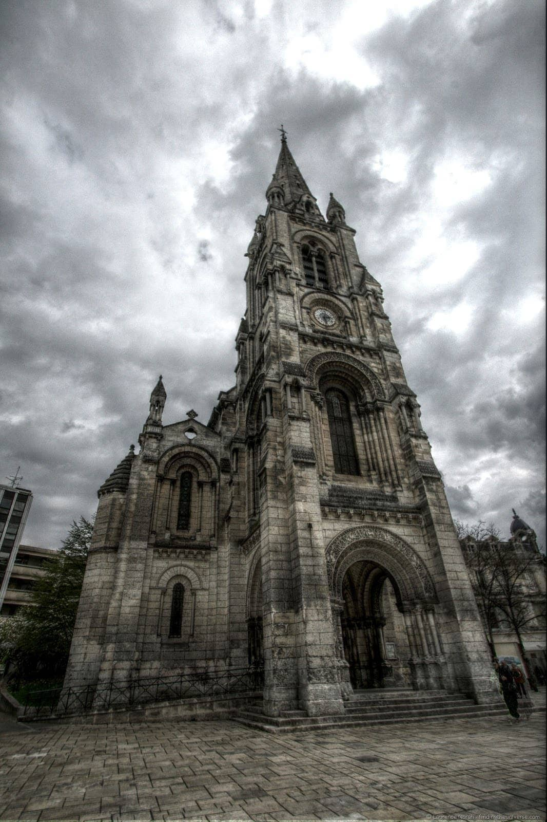 Church Angouleme cloudy angry sky.png