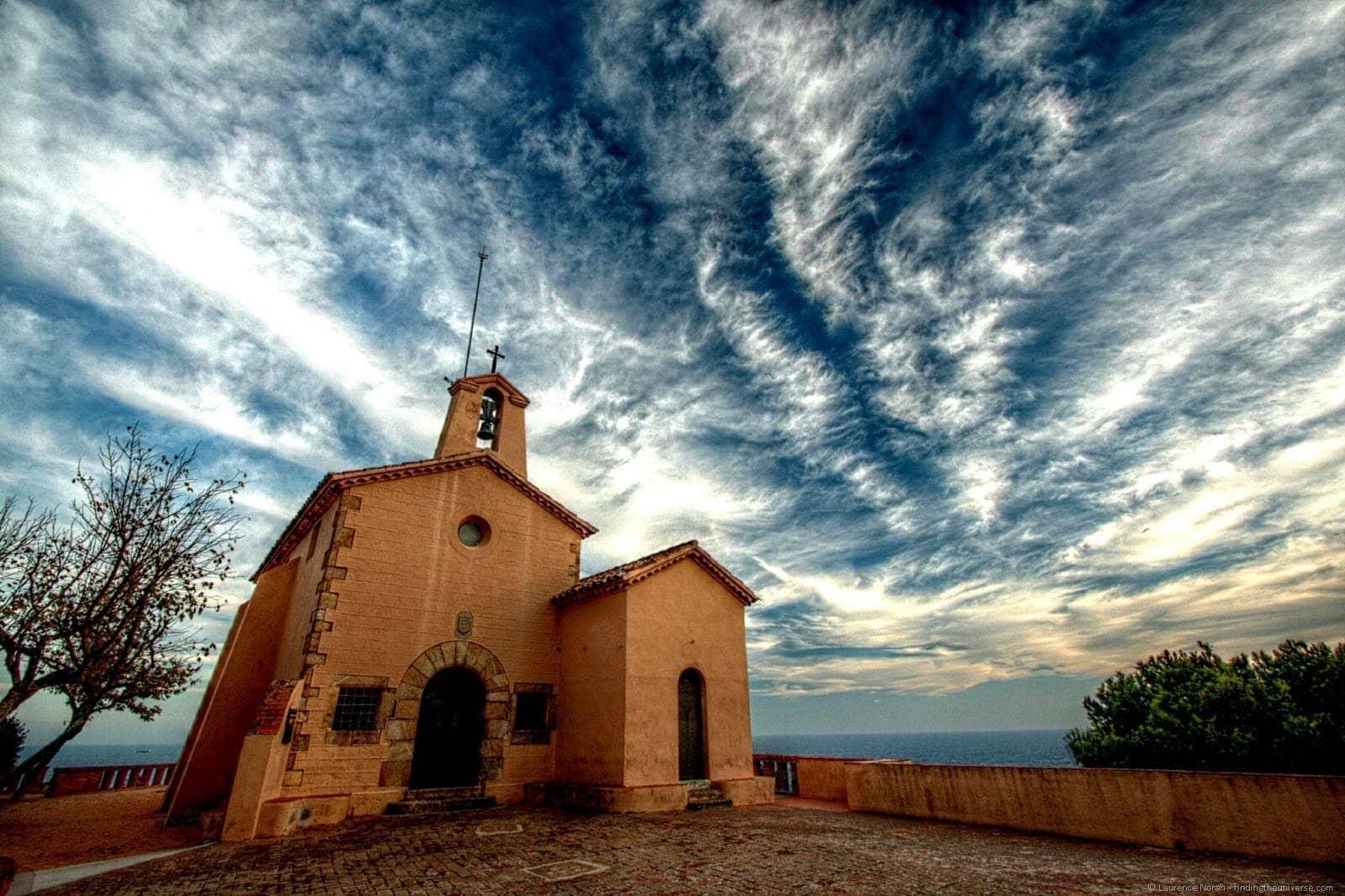 Church costa brava sky sunset 1
