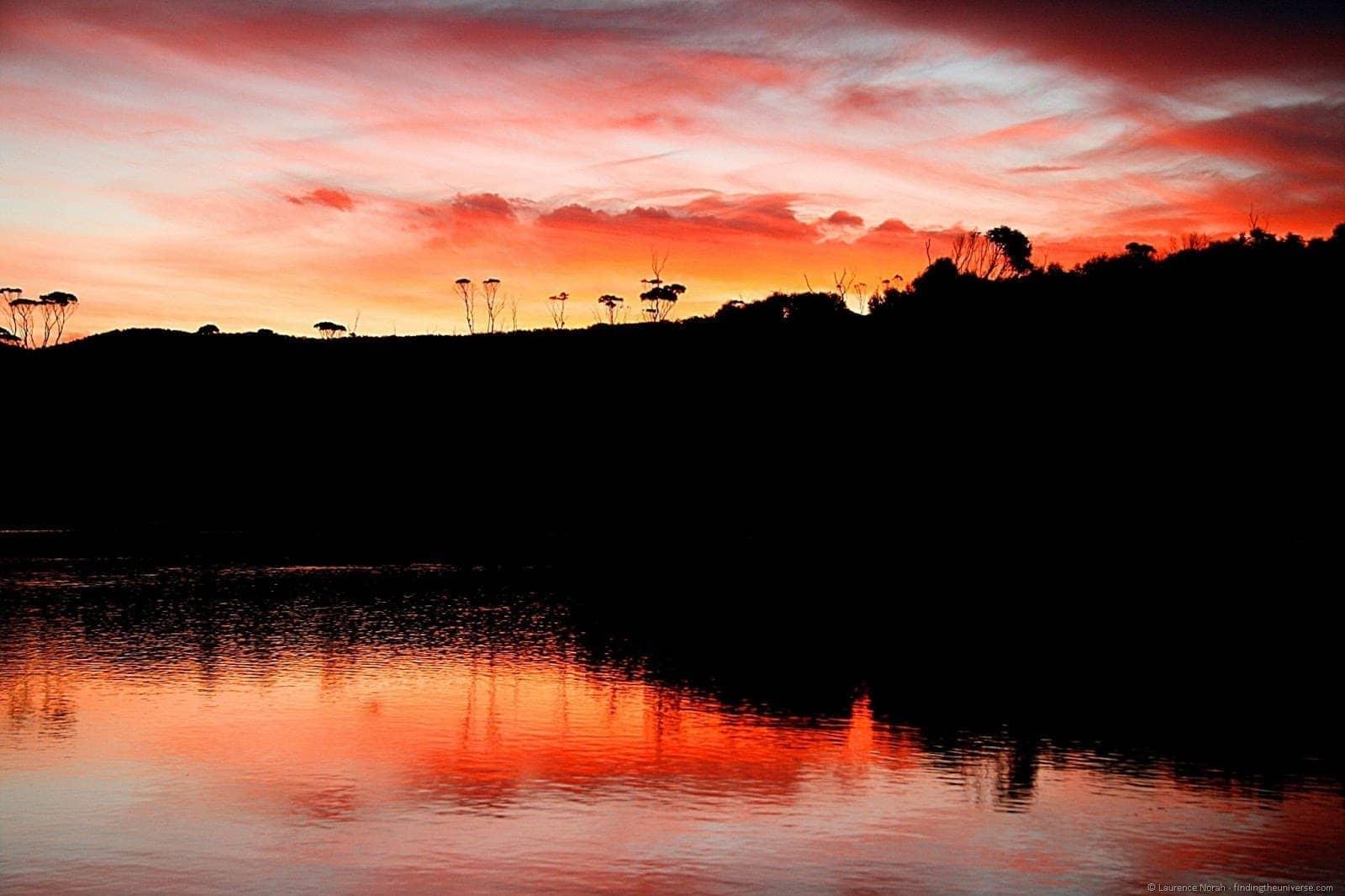 Sunset, Lagoon Beach