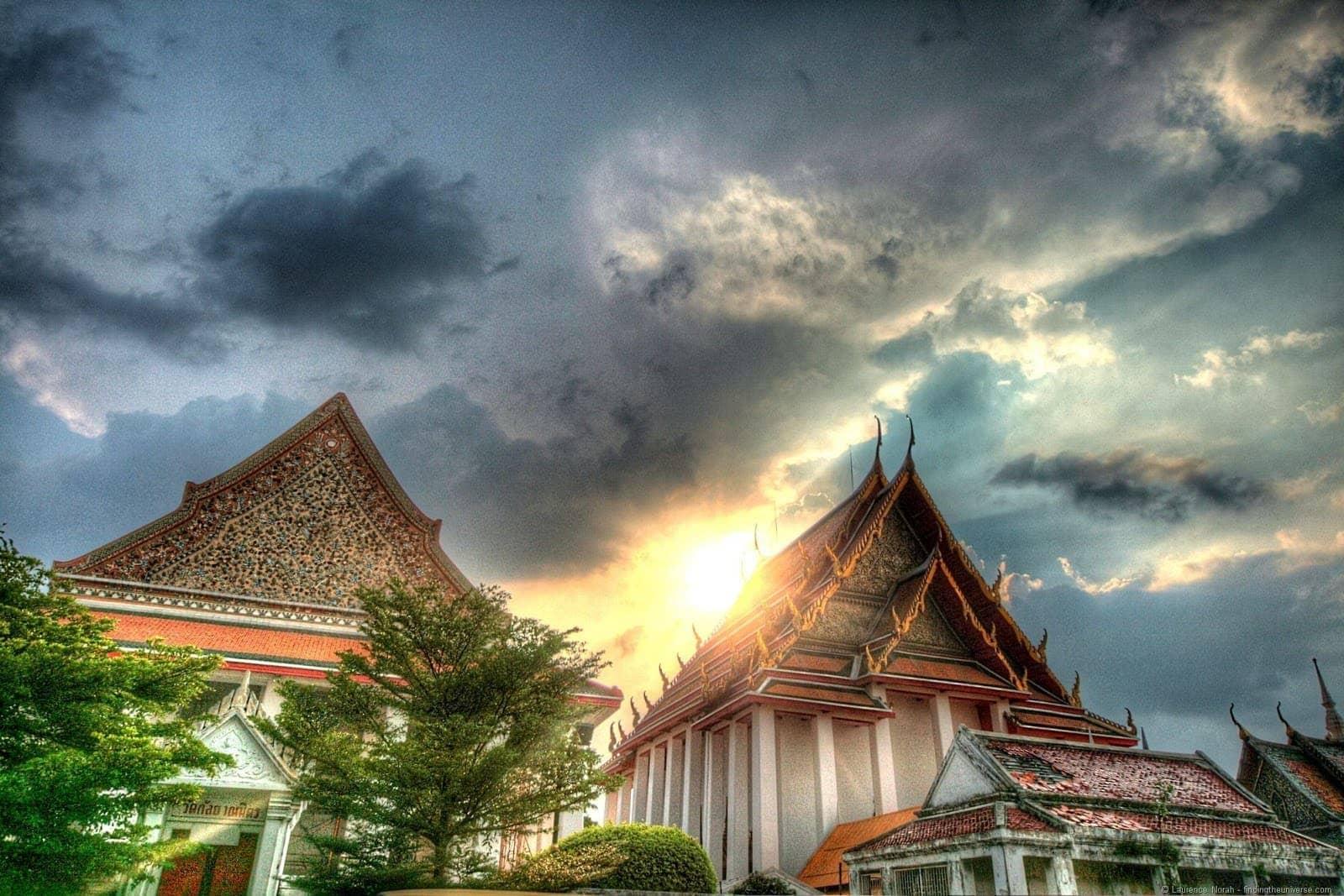 Bangkok temple against sky