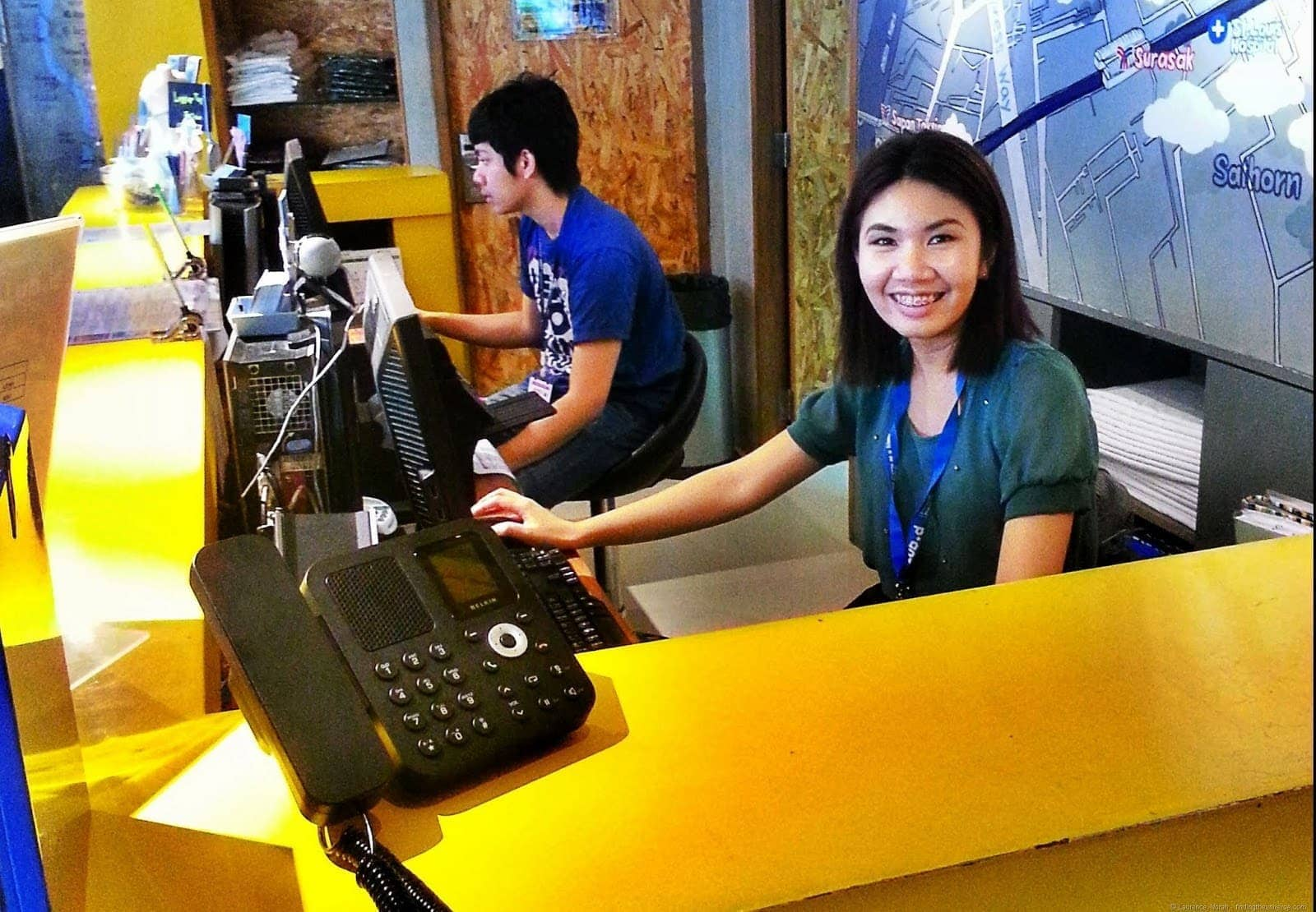 Friendly reception staff at Lub d Silom