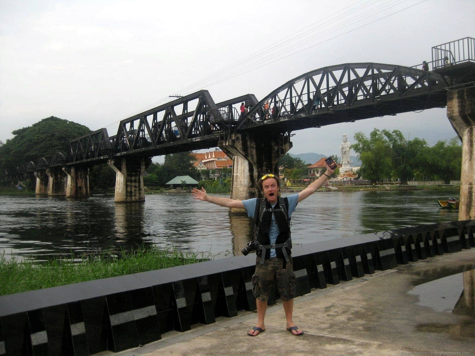 Laurence Scottevest under River Kwai bridge