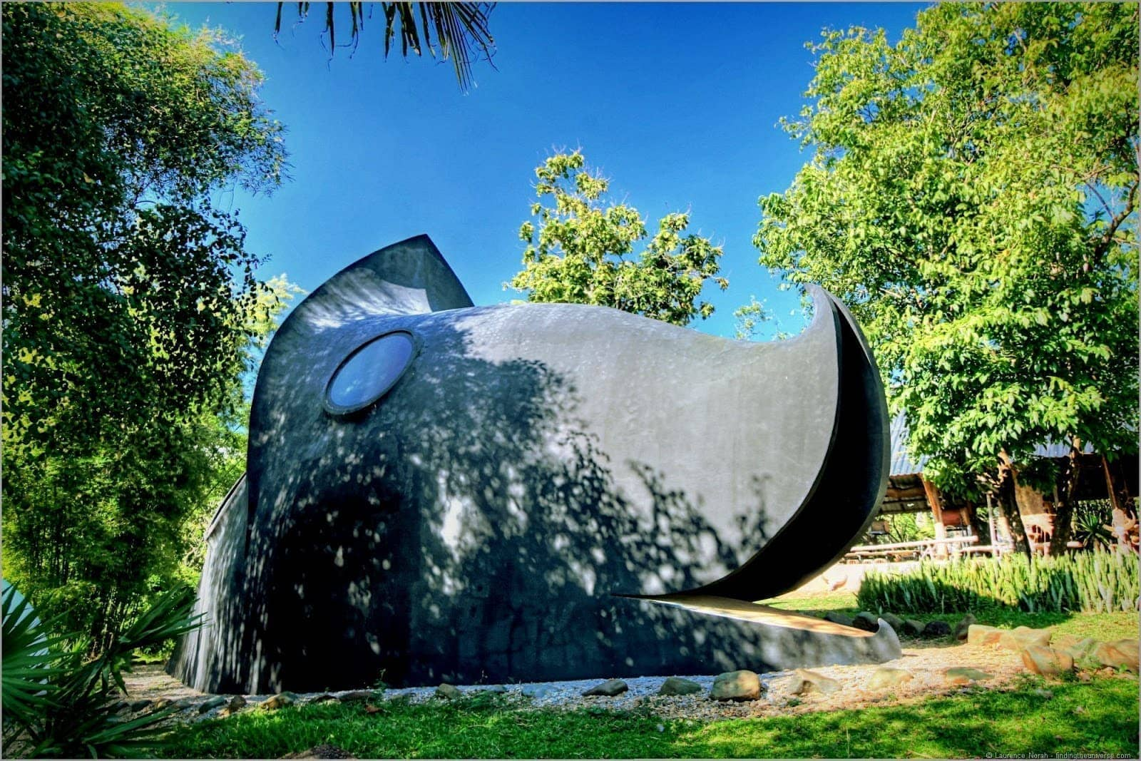 Black temple Chiang Rai giant whale