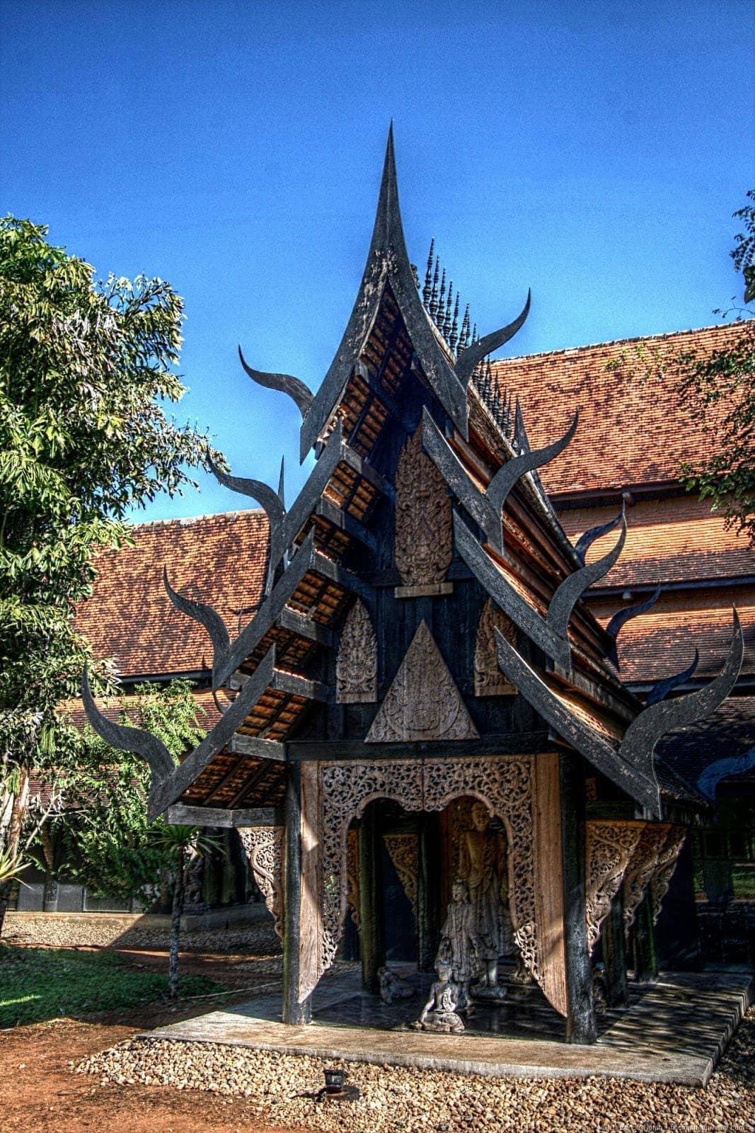 Black temple small house 2 Chiang Rai Thailand