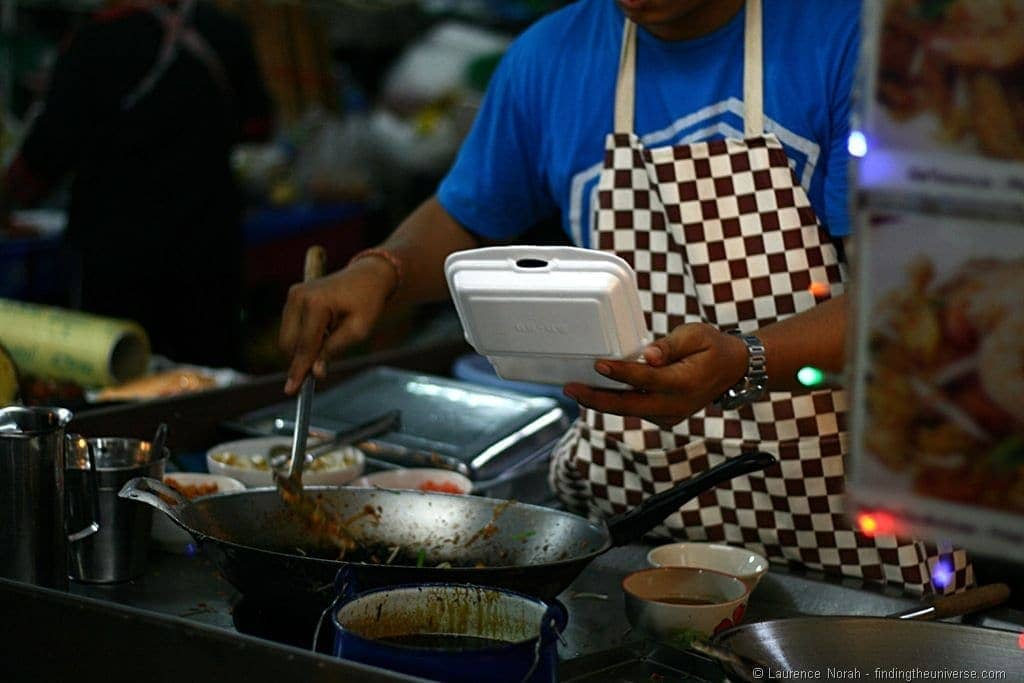 Food vendor night market Hua Hin Thailand